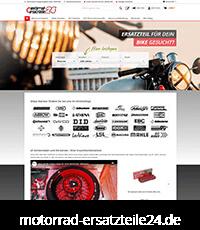 Screenshot motorrad-ersatzteile24.de - Firmengruppe Keszler Top Brands